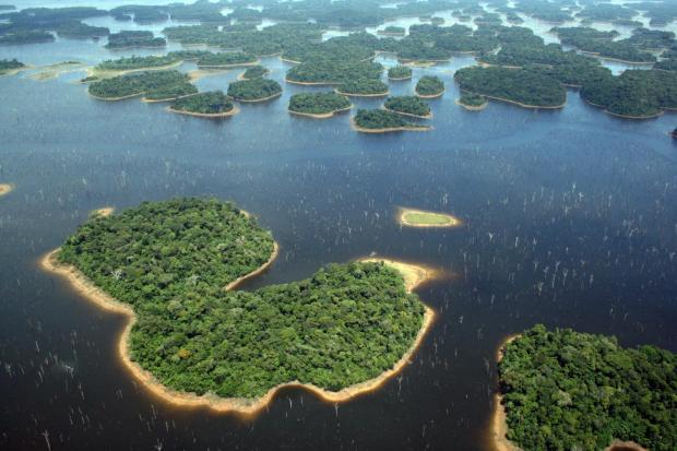 Islas creadas por la presa Balbina. Crédito de la fotografía: Eduardo M. Venticinque.